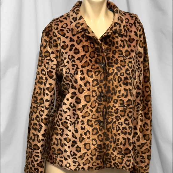 a58d9f2452b9 Karen Kane Jackets & Blazers - Karen Kane Instyle Leopard Print Lined Coat